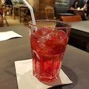 Iced hibiscus tea!