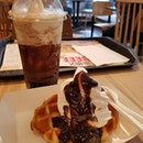 Root beer float ($2) and ice cream waffle ($3.90)!