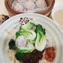 小笼包 (6 pcs - $4.50) & pork dumplings noodles ($4)!