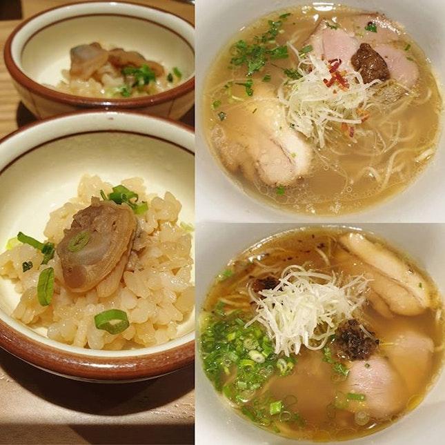 Shio hamaguri soup ramen & Shoyu hamaguri soup ramen ($14.90++ each)!