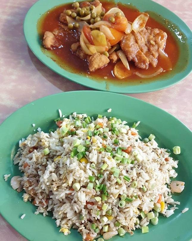 Pork chops ($6) & Fried rice ($6)!