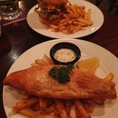 Fish & chips ($24+) & The poet's burger ($22+) - burpple beyond: $25.68!