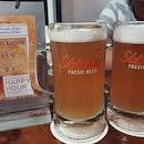 Lychee beer (happy hour: $13.90++ each)!