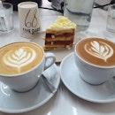 White forest cake ($8.50); White coffee (7oz: $5.50); Mocha (7oz: $6)!