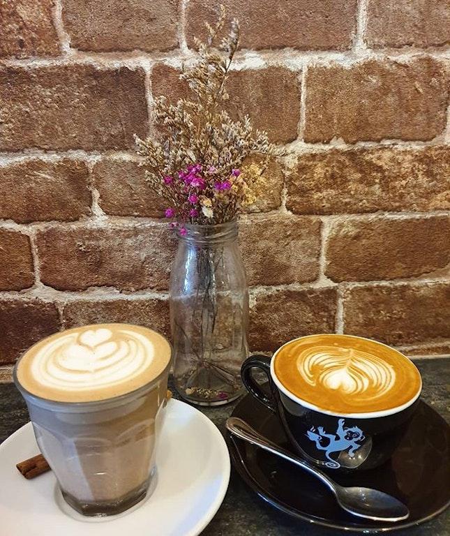 7 spiced chai latte ($6) & Flat white ($5)!