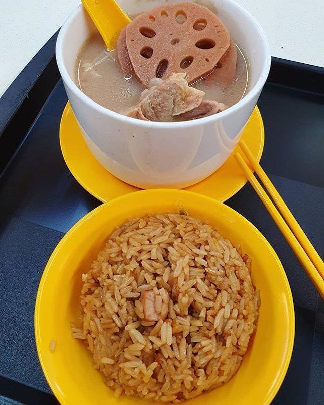 花生莲藕汤 ($4.50) & 芋头饭 ($1)!