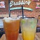 Iced lychee earl grey tea & Yuzu mint soda ($5++ each)!