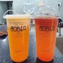 Hokkaido chizu mango ($6.70) & Ruby grapefruit green tea ($4.90) - burpple beyond: $6.70!