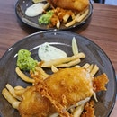 Fish & chips ($16 each)!