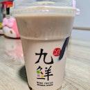 Earl Grey milk tea ($2.50) + Grass jelly ($0.80)!
