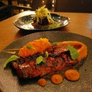 Had the iberico pork char siew and wagyu beef cheek for our mains which were tender and flavourful.