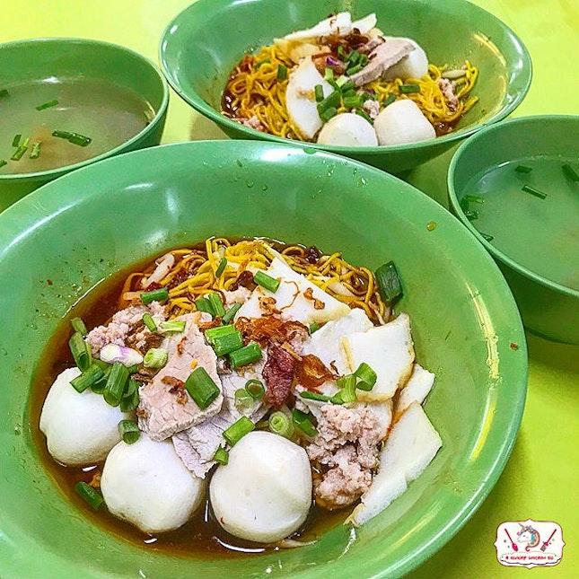 Teochew Fishball Kway Teow Mee.