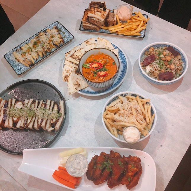Assorted Food And Sharing Plates