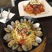White Wine & Clam Pasta + Pork Meatball & Tomato