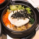 Dolsot Bibimbab ($12.90)  You can opt for either pork or beef for your bibimbab.