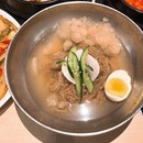 [Mul-Naengmyeon, $12.90]  Despite the many korean restaurants in Singapore, Naengmyeon is not as commonly seen on menus unlike bibimbap/jjajangmyeon/stews.