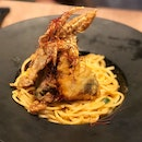 Crispy Soft Shell Crab Pasta ($16)