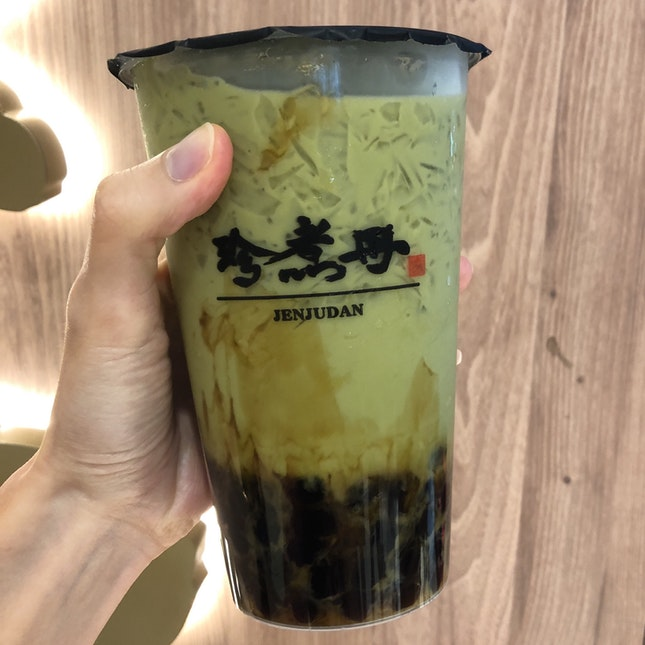 Brown Sugar Boba Matcha Green Tea ($5.50)