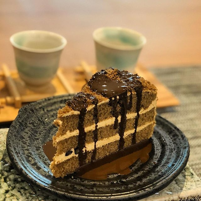NEW Hojicha cake ($7.80) now available at @hvala_sg !