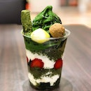 Hojicha x Matcha Twist parfait which caused a huge $16 hole in my pocket but its so worth it😍 Comes by default also with bananas and azuki, which i chose to omit and the very friendly staff instead offered to switch out my toppings for some warabimochi instead which i totally didn't mind because they are so good!!