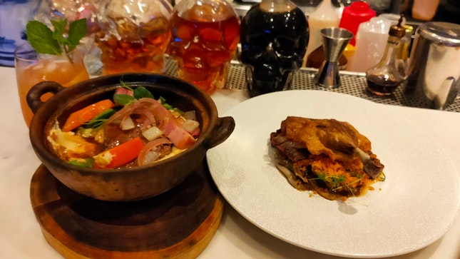 """Recommend: Claypot Angus Beef cheeks """"Bourguignon"""" And Duck Confit with Wokhey Horfun!"""