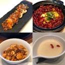 鱼香带子,水煮鱼,麻婆豆腐,杏仁布丁