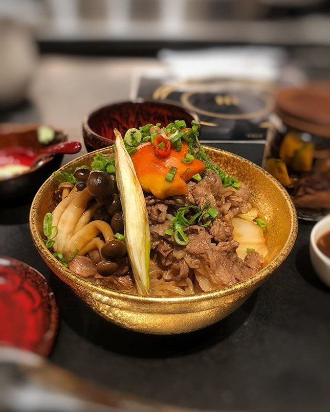 Kiwami Wagyu Sukiyaki Don $29.90++⁣ ⁣ Braved an hour's queue for this beefy bowl of goodness.