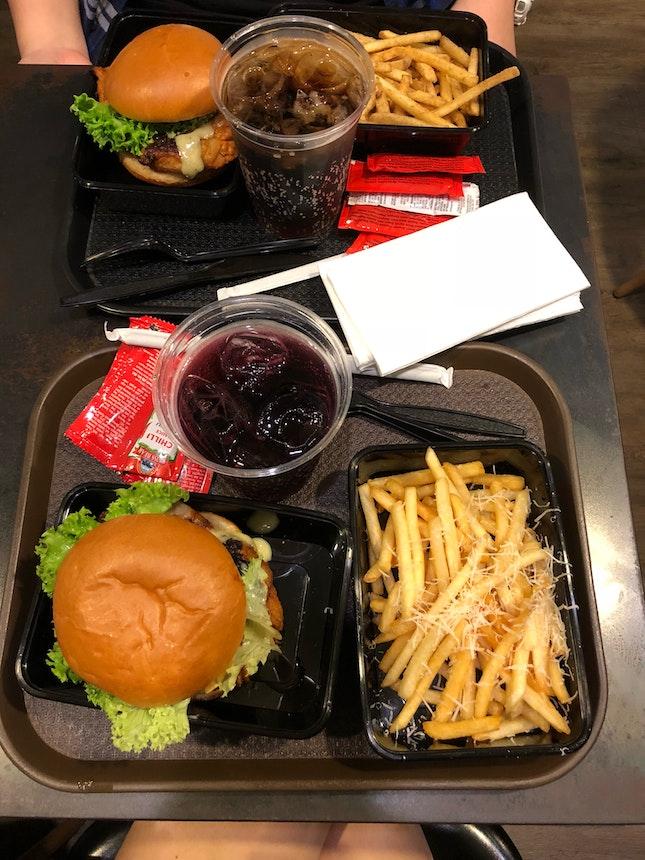 Tandoori Chicken Burger w Truffle Fries [$14.90]