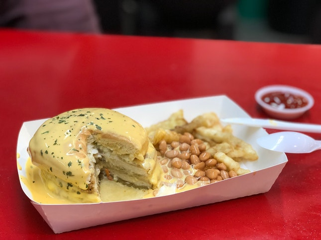 Burger Banjir [$7.50]