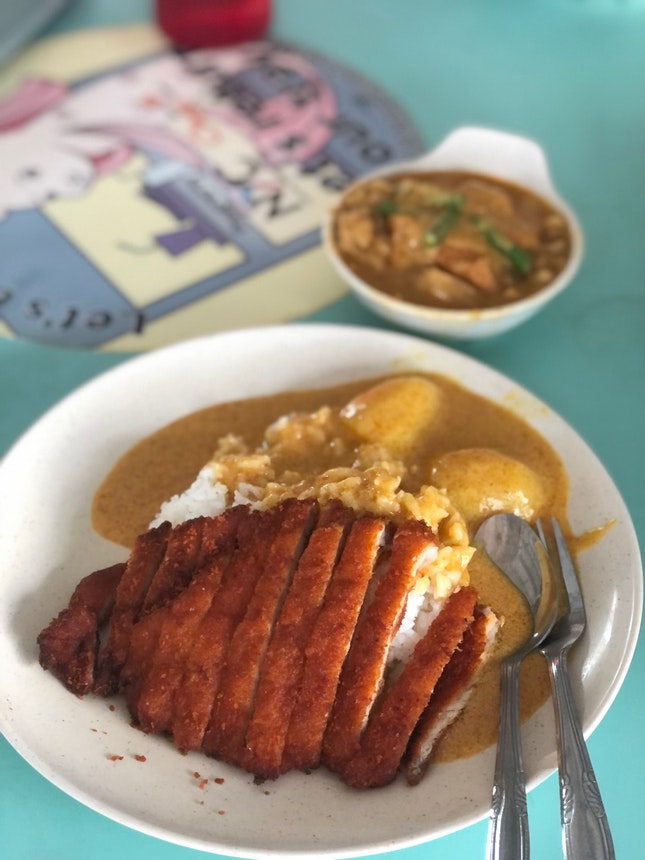 Pork cutlet curry rice $5