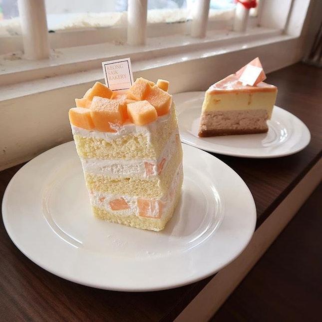 Dreaming of Keong Saik Bakery's cakes - particularly the rock melon shortcake!