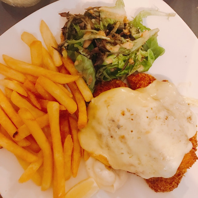 Rachlette cheese w fish and chips