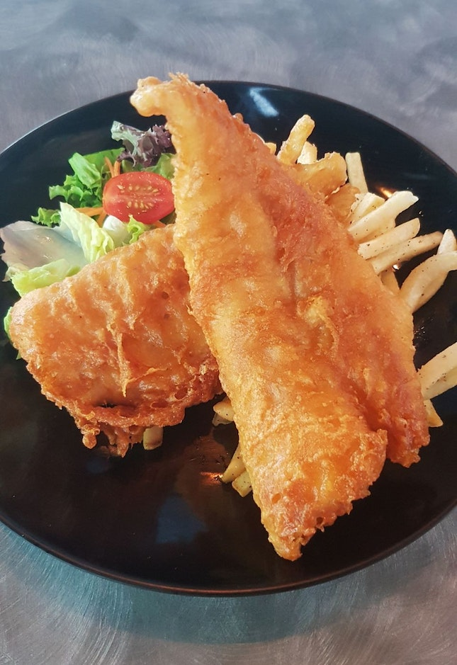 Cod fish & chips ($9.50 + $1 for truffle fries)