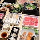 """My new fav place for shabu-shabu ❤️ So in love with the @shaburiandkintan new buffet menu """"Wagyu Shabu""""."""