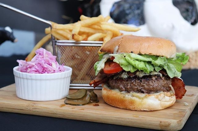 -Fumee Bacon Blue Stilton Burger- It's heavenly made for BLUE CHEESE lover!
