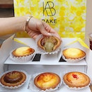 "🌻Happy sunday🌻 Just trying the new flavour available from my fav cheese tart @bakecheesetart_sg ""Houjicha"" & ""Strawberry""."