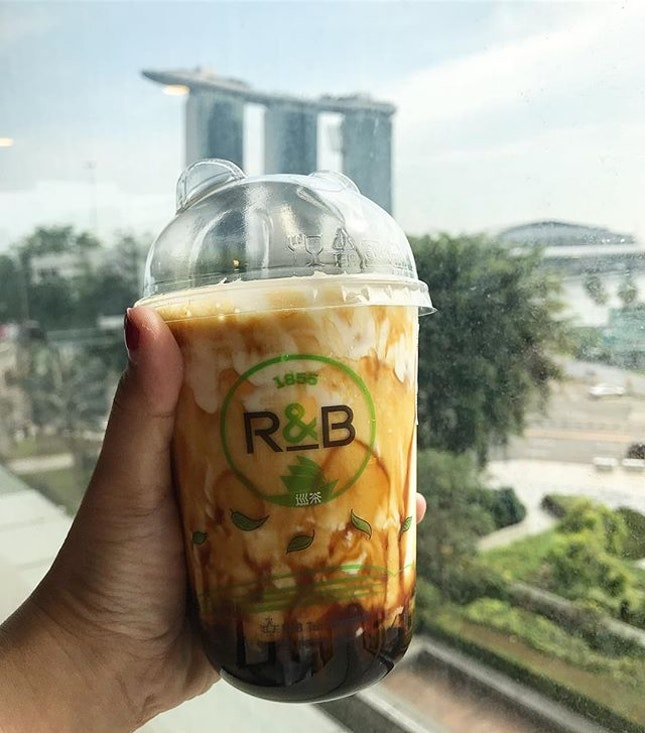 Heard so many good reviews about this brown sugar boba milk with cheese brule from all friends!