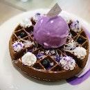 Violet waffle