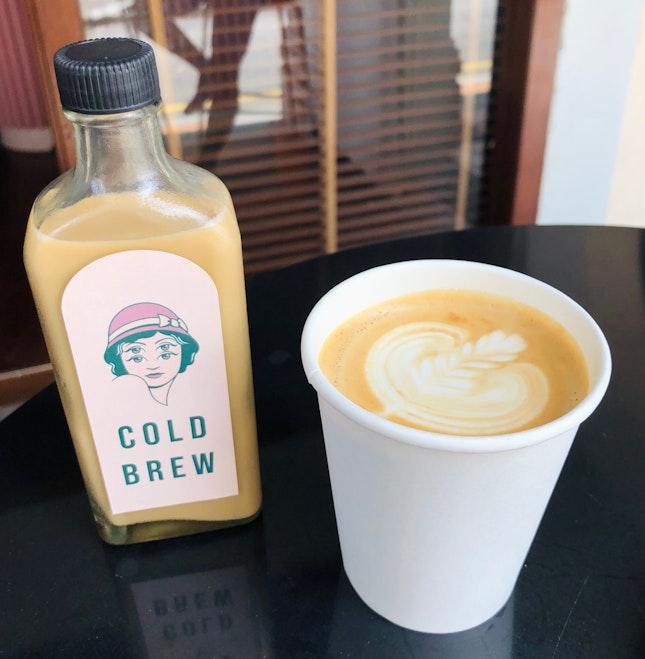 White Cold Brew ($7.5) Flat White ($5.50)