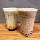 👉Avocado Milk w Gula Melaka && Go Premium Milk Tea👈