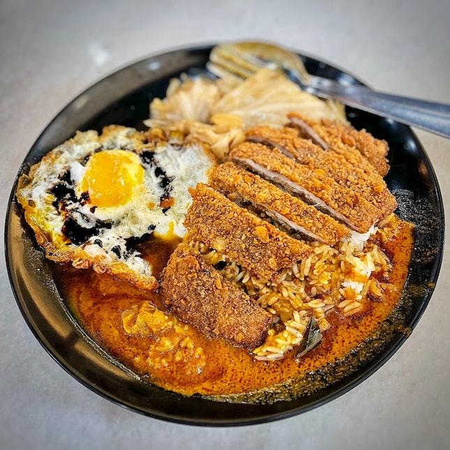 Pork Chop Hainanese Curry Rice Set