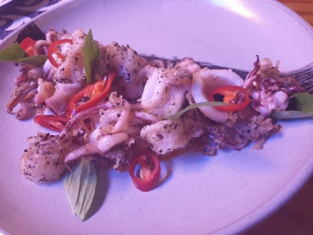 Wok Fried Salt And Pepper Squid