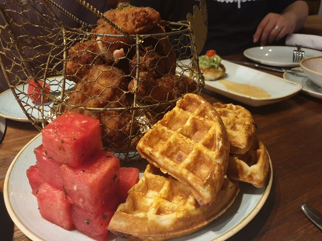 Chicken N Watermelon N Waffles @ $40++