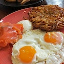 Salmon Rosti With Sunny Side Up