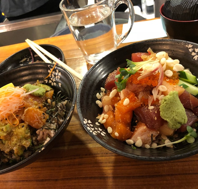 Chirashi Bowl with Brown Rice