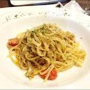 crabmeat aglio olio