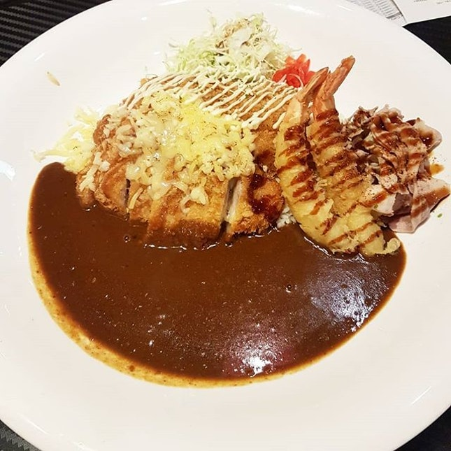 Such a big plate of Japanese Curry!