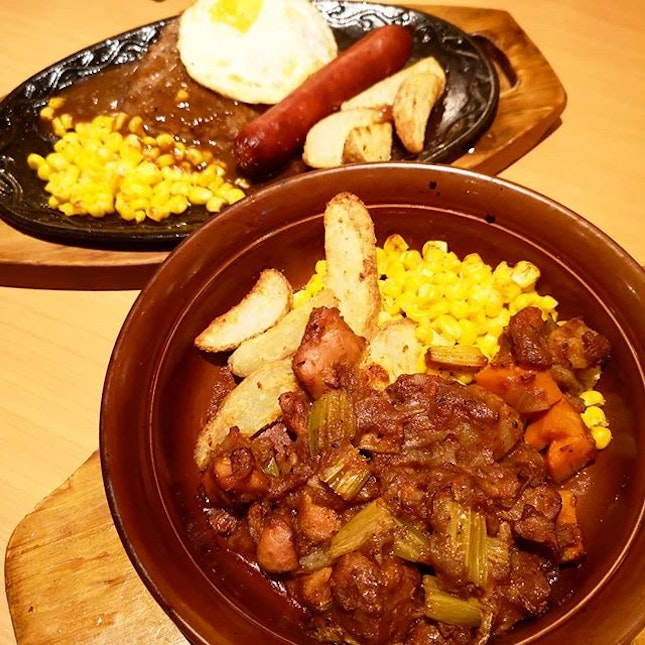 Saieriya Hamburger & Sausage ($8.90) & Chicken Stew ($5.90)~ .