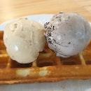 Waffle ice cream set $7