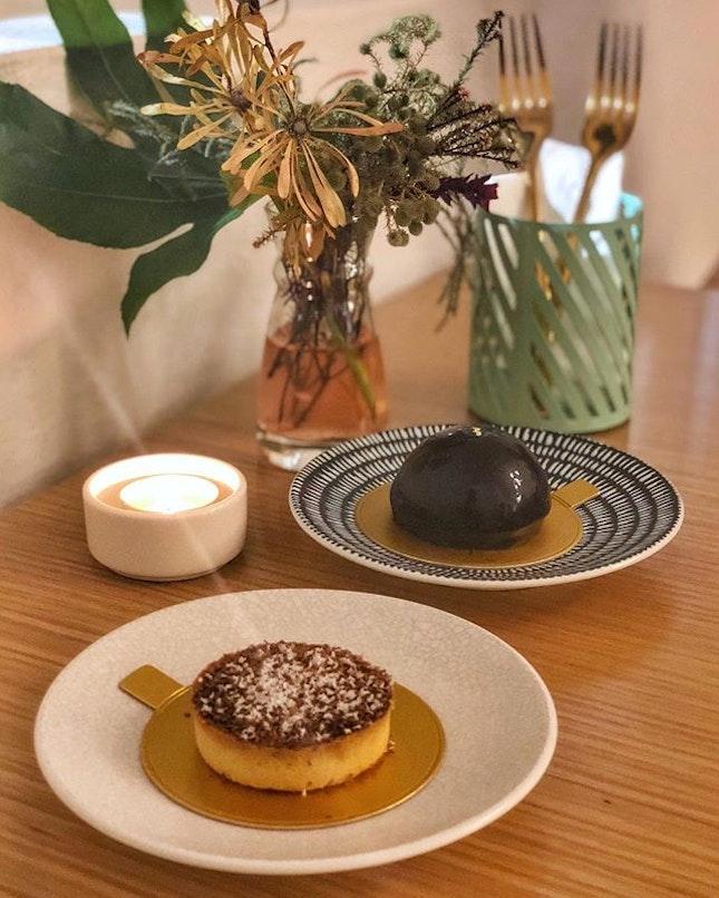 The chocolatey seasalt miso tart is oomph!🤤